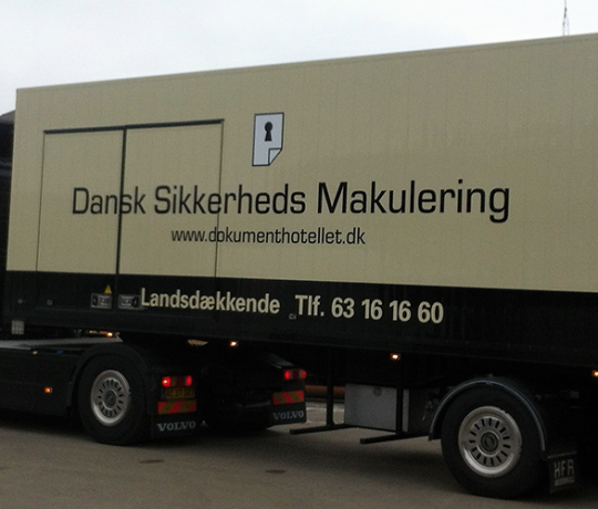 Mobile security shredding in Denmark